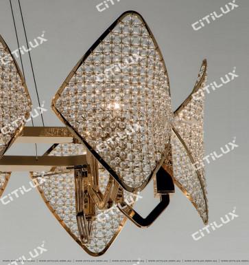 Modern Diamond-Shaped Crystal Ball Medium Chandelier Citilux