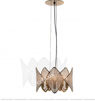 Modern Diamond-Shaped Crystal Ball Small Chandelier Citilux