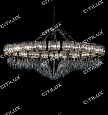 Jane European Luxury Crystal Cover Hollow 1500Mm Chandelier Small Citilux