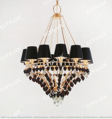 Jane Villa Coffee Color Suspension Chandelier Small Citilux