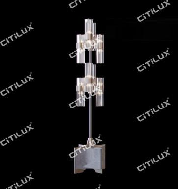 Light Luxury Metal Four-Corner Glass Floor Lamp Citilux