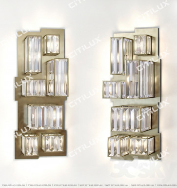 Modern Crystal Combination Stainless Steel Wall Lamp Citilux