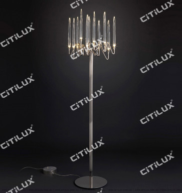 Stereo Icicle Long Floor Lamp Chrome Citilux