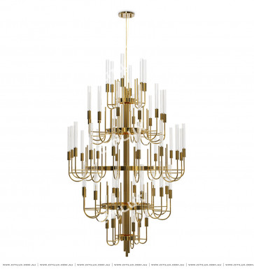 Simple Thin Line Explosion-Proof Glass Multi-Tier Large Chandelier Citilux
