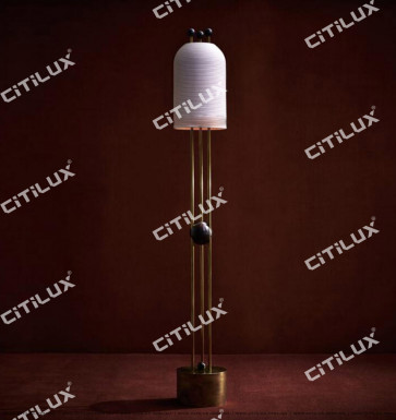 Full Copper Thread Milk White Glass Single Head Floor Lamp Citilux