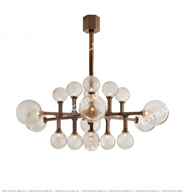 All-Copper American Bubble Molecular Chandelier Citilux