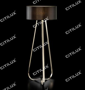 Modernized Three-Legged Stainless Steel Floor Lamp Citilux