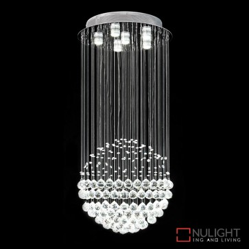 Jupiter 461 Crystal Led Pendant Height 600Mm White Led DOM