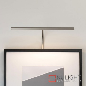 Mondrian 400 Frame Mounted LED Matt Nickel Picture Light 7890 AST