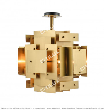 Stainless Steel Square Ceiling Lamp Citilux