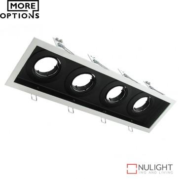 Dsl 1014B Rectangular Slotter Four Light Downlight Frame DOM