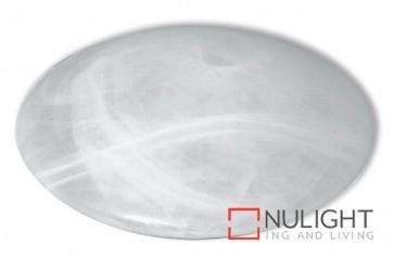 Circular Fluoro Oyster Light 22W Alabaster ASU
