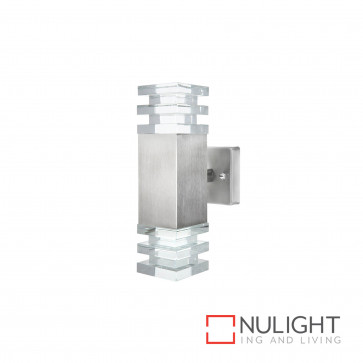 Tigris Led Square Up And Down Wall Light Stainless Steel BRI