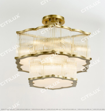 Modern And Simple Chinese Glass Tube Ceiling Lamp Citilux