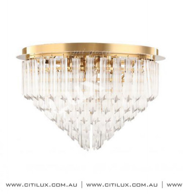 Stainless Steel / Four-Pointed Star Glass Ceiling Lamp Large Citilux