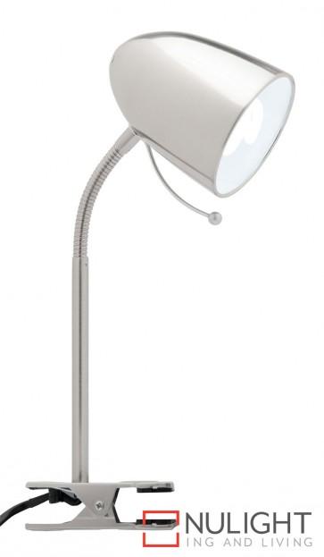 Sara Clamp Lamp Brushed Chrome MEC