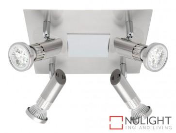 Pronto 4 Light LED Spotlight Plate Brushed Chrome MEC