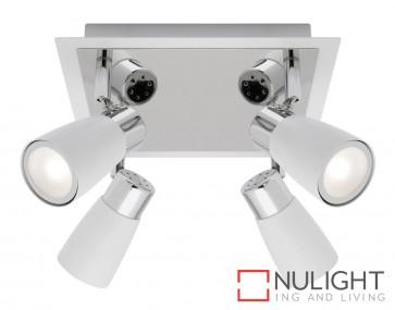 Alecia 4 Light Spotlight Plate White MEC