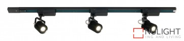 Mast 3 Light LED Track Light Black MEC