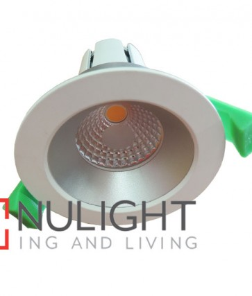Downlight FITTING FIXED MATT White Round ARCHITECTURAL LOW GLARE with SILVER Reflector 70mm CLA
