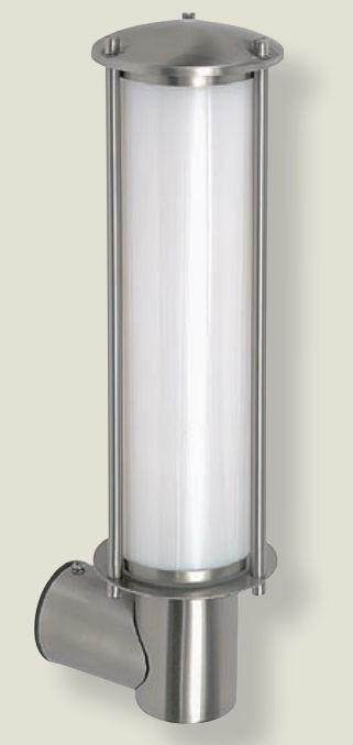 lighting australia brushed wall lantern in stainless. Black Bedroom Furniture Sets. Home Design Ideas