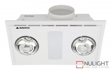 Cosmo Duo Bathroom Heater with Exhaust & Light White MEC