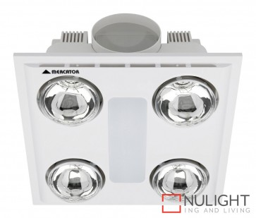 Cosmo Quattro Bathroom Heater with Exhaust & Light White MEC