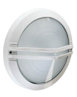 Boluce Astra Round Outdoor Wall Light with Centre Grille