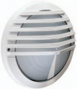 Boluce Astra Round Outdoor Wall Light with Slotted Eyelid