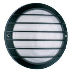 Boluce Laser Round Outdoor Wall Light with Grille