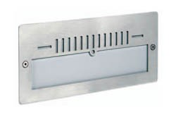 Boluce Style Mini Brick Light with Half Grille in Stainless Steel
