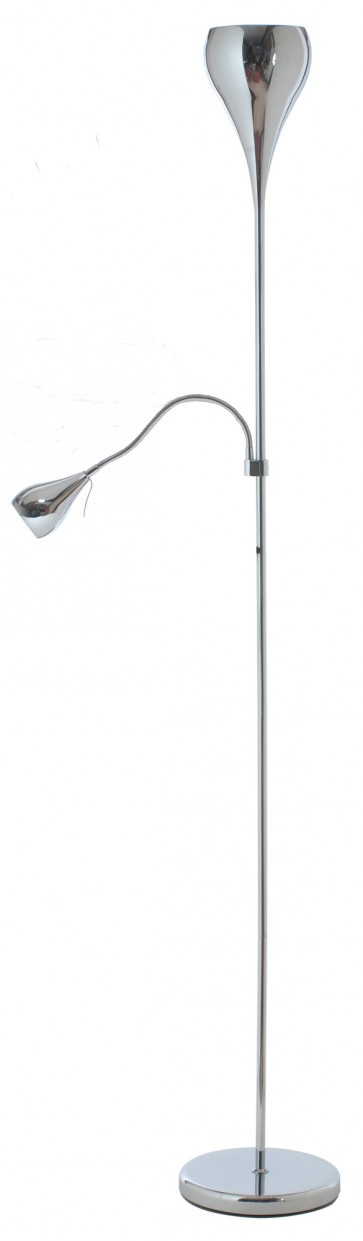 Lighting Australia Tulip Mother And Child Floor Lamp In Chrome Brilliant Lighting Nulighting