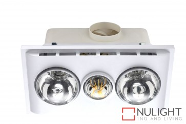 Uniglow LED Bathroom Heater with Exhaust & Light White MEC