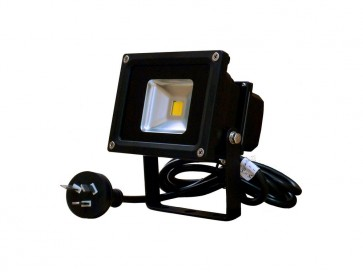 1.5M Flex and Plug 10W Led Flood Light in Black CLA Lighting