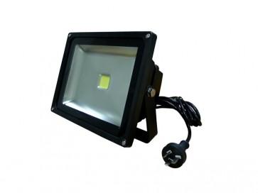 1.5M Flex and Plug 30W Led Flood Light in Black CLA Lighting