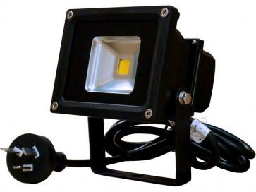 10W LED Floodlight in Warm White Black CLA Lighting
