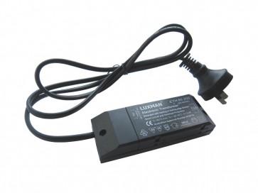 12V 60VA Round Electronic Transformer Including Flex and Plug CLA Lighting