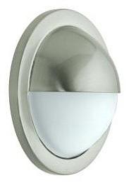 12V G4 Bi-Pin 1/2 Eyelid Round Wall Recessed Light in Satin Chrome (Internal) CLA Lighting