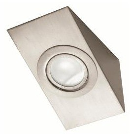 12V G4 Bi-Pin Rectangular Angle Wall Mounted in Satin Chrome Interior CLA Lighting