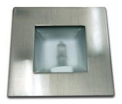 12V G4 Bi-Pin Square Recessed Light in Satin Chrome (Internal) CLA Lighting