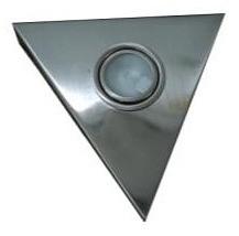 12V G4 Bi-Pin Triangle Large Wall Mounted in Satin Chrome Interior CLA Lighting