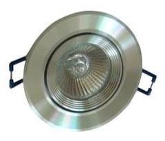 12V MR16 Gimble Round Downlight Frame in Aluminium Ribbed Inner Ring CLA Lighting