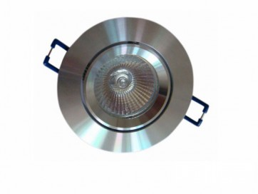 12V MR16 Gimble Round Downlight Frame in Aluminium Smooth CLA Lighting