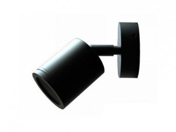 12V MR16 Single Adjustable Short Body Wall Pillar Light in Black CLA Lighting