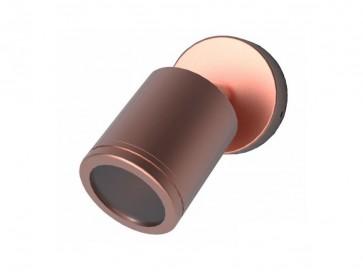 12V MR16 Single Adjustable Short Body Wall Pillar Light in Copper CLA Lighting