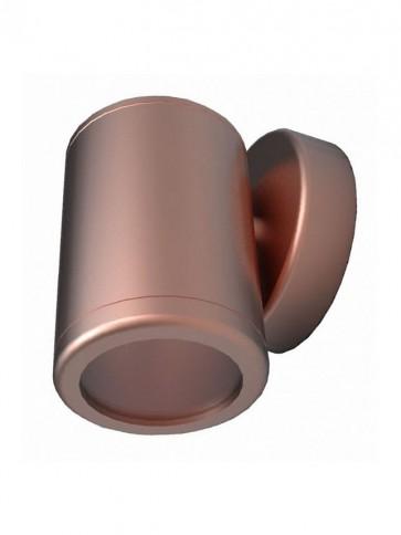 12V MR16 Single Fixed Short Body Wall Pillar Light in Copper CLA Lighting