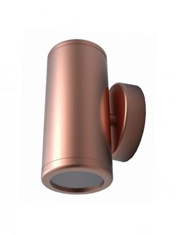 12V MR16 Up/Down Fixed Short Body Wall Pillar Light in Copper CLA Lighting