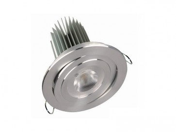 12V Round High Power Led Downlight 30000 Hours in Satin Chrome CLA Lighting