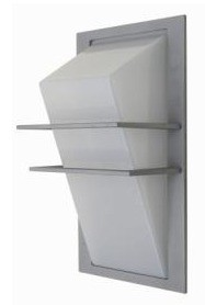 2 Bar Angled Diffuser Wall Pillar Light in Grey CLA Lighting