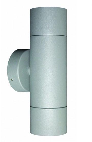 2 Light GU10 Up / Down Long Body Wall Pillar Light in Grey CLA Lighting